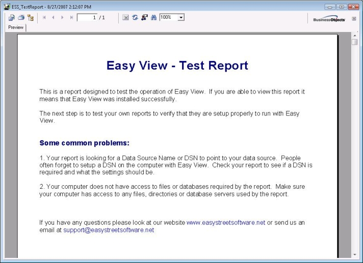 Crystal Reports Viewer - Easy View